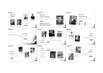 The 1945 - History PowerPoint Template, a premium template from Envato Elements that uses white space well