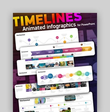 Timeline Infographic History PPT Template