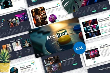 Arcades Game Google Slides Template, a professionally designed template from Envato Elements