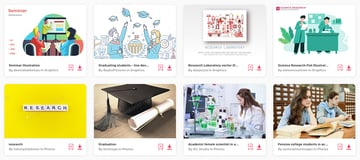 Tons of suitable high-quality premium academic-related photos and graphics on Envato Elements