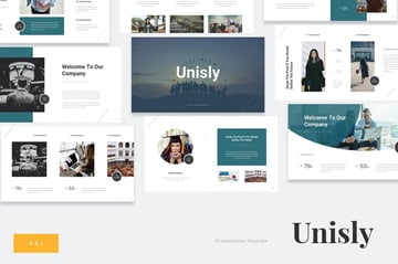 Unisly - University Education Google Slides, a modern and minimalistic template from Envato Elements