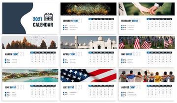 Calendar 2021 Google Slides Template, a professionally designed file on Envato Elements