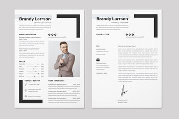 CV Resume & Letter Template, a premium file from Envato Elements that looks perfect as a printed document or a PDF in an email