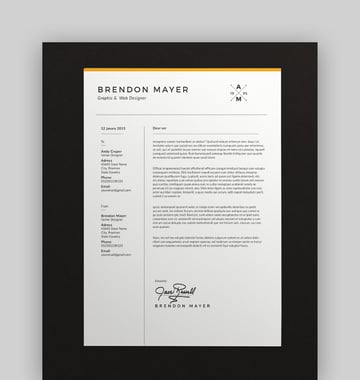 Clean Resume and Resignation Letter Template Word