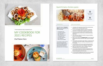 DIY Free Recipe Book Cover Template Word