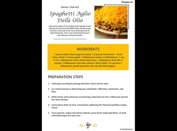 Yellow Free Cookbook Template for Word