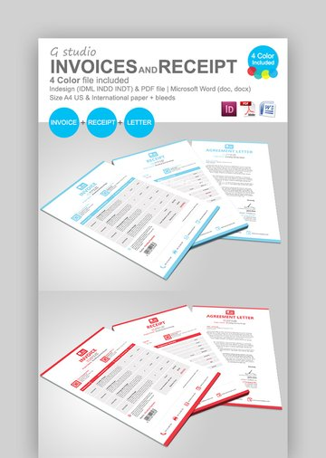 G Studio Invoice Receipt and Letter Template