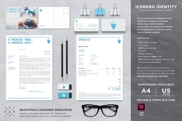 Iceberg Stationary Pack With Invoice, a premium template pack from Envato Elements