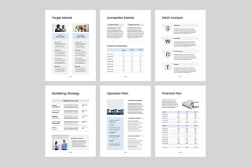 Business Plan with SWOT and other marketing pages, a premium template from Envato Elements