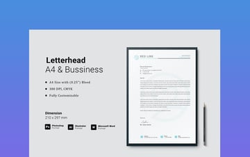 Letterhead - A4 & Business MS Word Template