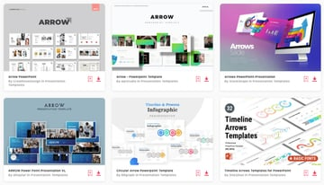 Find loads of premium arrow PPT templates on Envato Elements