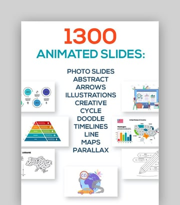 Large Set - Infographics PowerPoint Template with Arrows