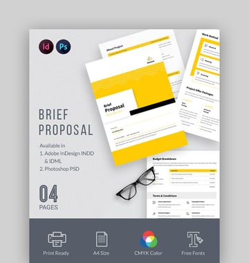Brief Proposal Project Outline Template Microsoft Word
