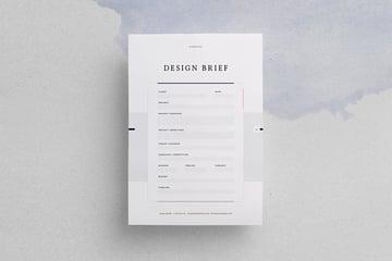 Design Brief, a premium outline template from Envato Elements