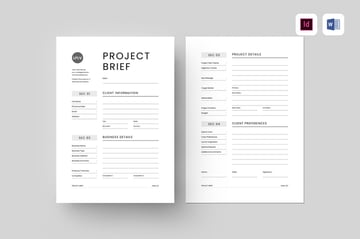 Project Brief, a clean, modern, and simple template from Envato Elements