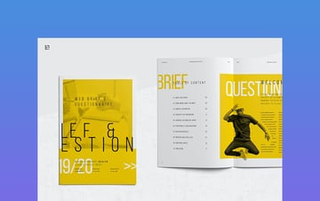 Web Questionnaire Project Outline Template Microsoft Word