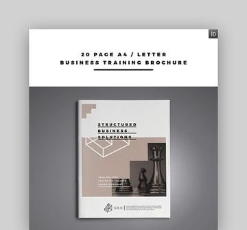 Business Training Brochure Template