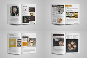 Coffee Recipes Template, a well-designed minimalistic template on Envato Elements