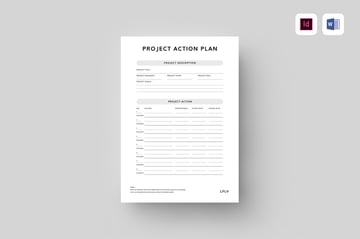 Project Action Plan, add a blank fishbone diagram to a premium template like this from Envato Elements