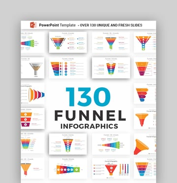 Funnel Infographics PowerPoint Template Diagram Pack
