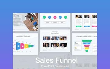 Sales Funnel Diagram Template