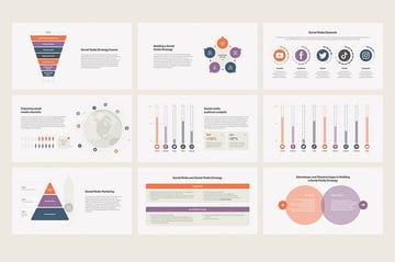 Social Media Analytics PowerPoint Templates, comes with a set of 30 unique infographics