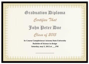 Black & Gold 12 - Free Blank Diploma Template