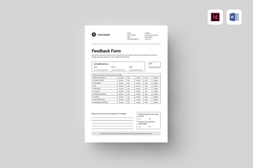 Feedback Form, a premium document from Envato Elements to use for for employee evaluations