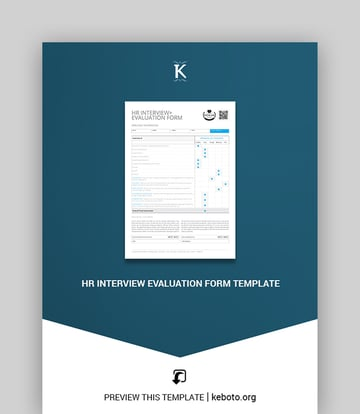 HR Interview Evaluation Form Template