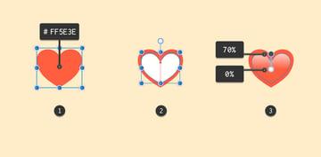 Creating a heart shape
