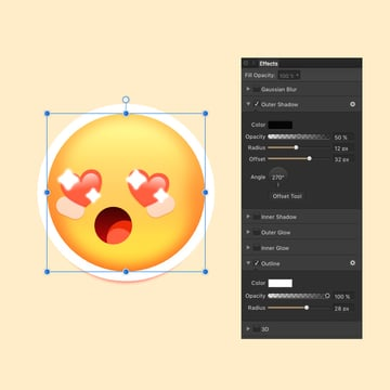 Adding final FX to the emoticon