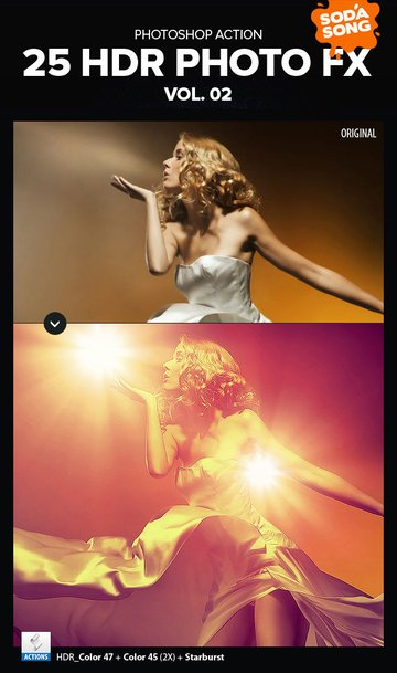 25 HDR photo fx photoshop actions