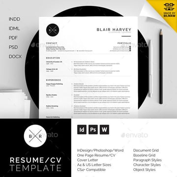 Modern Resume Template - Blair