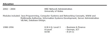 Functional resume education without dates