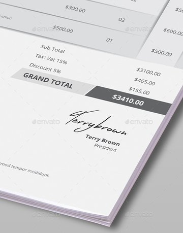 Clean - professional invoice template