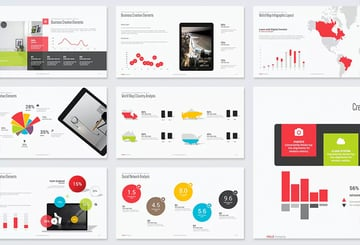 Creative charts diagrams and infographic PowerPoint template slides
