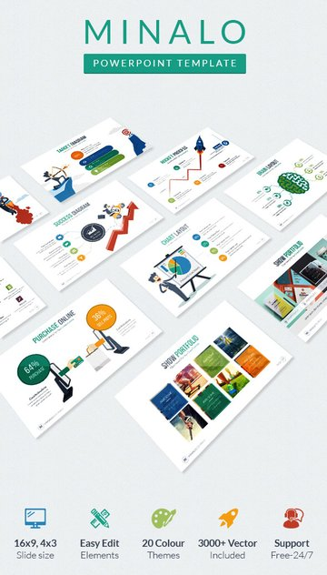Minalo Info Creative PowerPoint Templates
