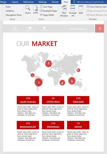 Market map page after customizations