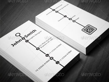 Creative Timeline Business Card Printable Template