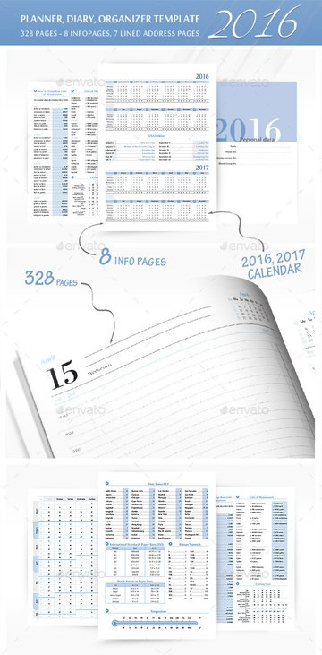 Printable planner daily organizer template