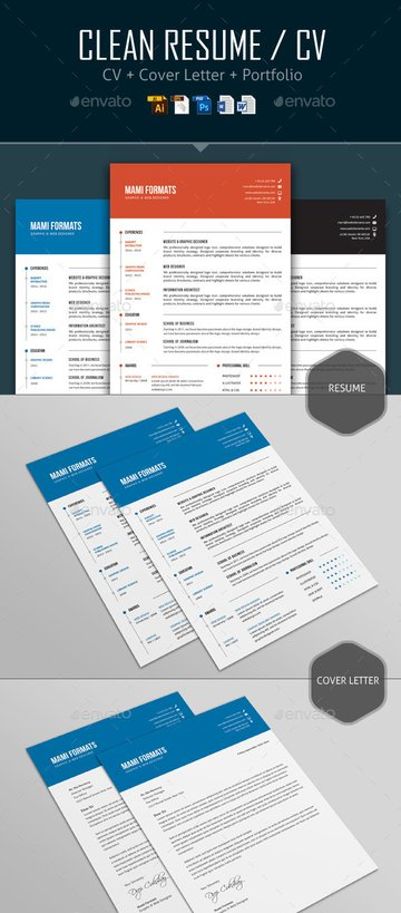 Clean resume structure template