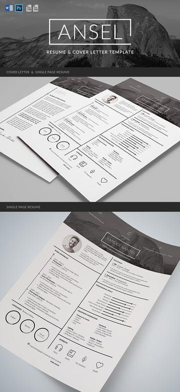 Graphic resume design template