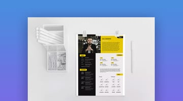 Modern Creative Resume Infographic Template Set