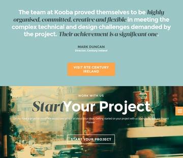 Kooba - Web design case study
