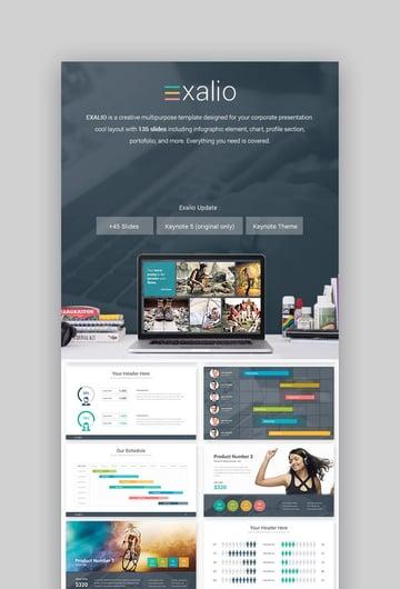 Exalio Beautiful Business Keynote-Vorlage für Mac
