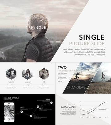 Triangle Keynote Präsentationsfolienvorlagen-Designs