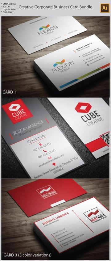 Creative Illustrator Vector Business Card Formats