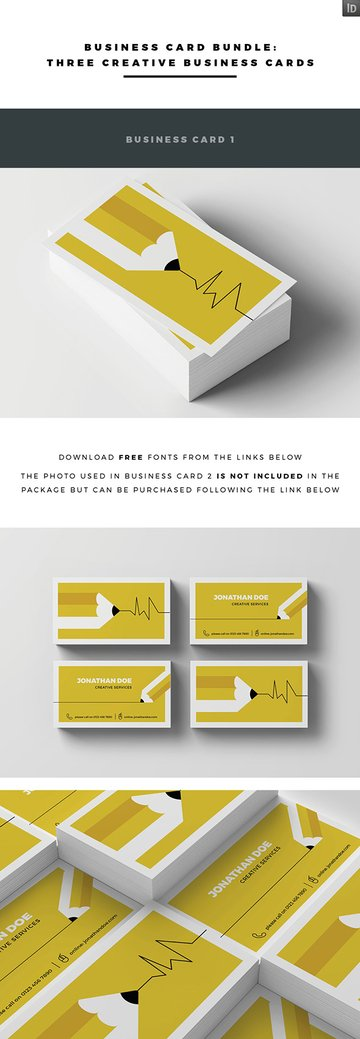Creative Business Card Bundle - InDesign INDD Ready