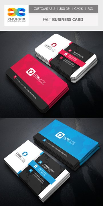 Flat Photoshop Busienss Card Template