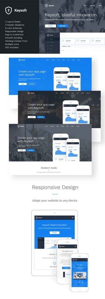 KeySoft Landing Page Design Template